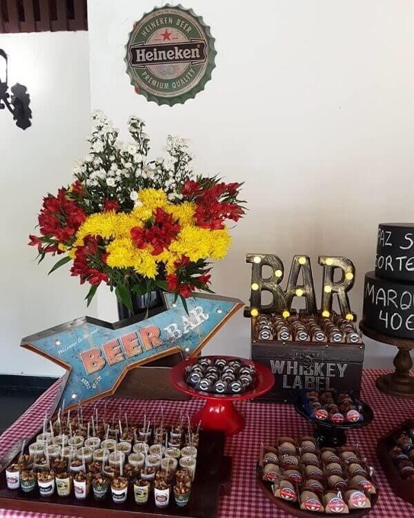 Pub party tables