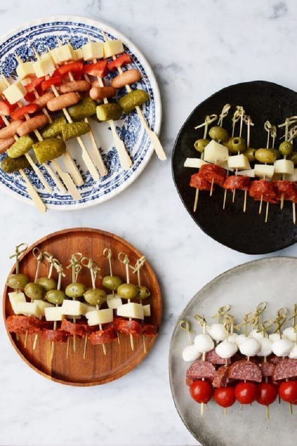 Colorful and tasty snacks for the party