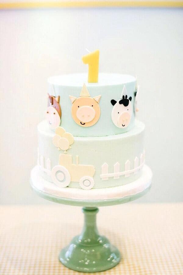 Cake decoration for party fazendinha Foto Pinosy