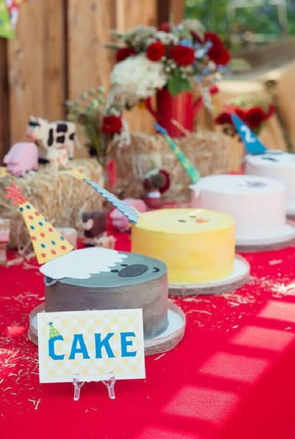 decorated cakes for little farm girl party Photo Natasha M. Lawler