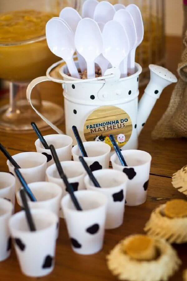 custom cups with cow print for farmhouse children's party Photo Home & Garden
