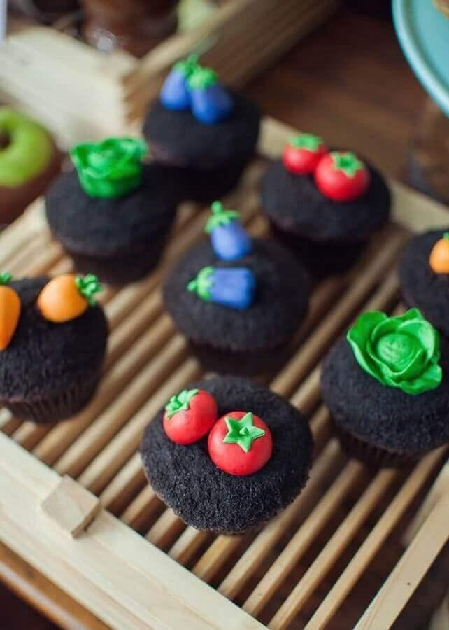 cupcake decoration for children's party fazendinha Foto Etsy