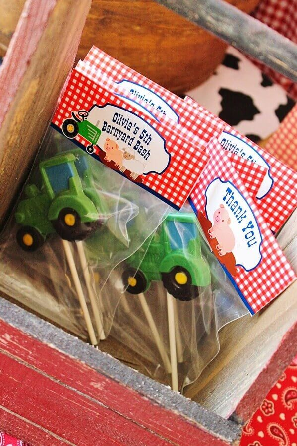 simple souvenir for party of the little farm Photo Pinosy