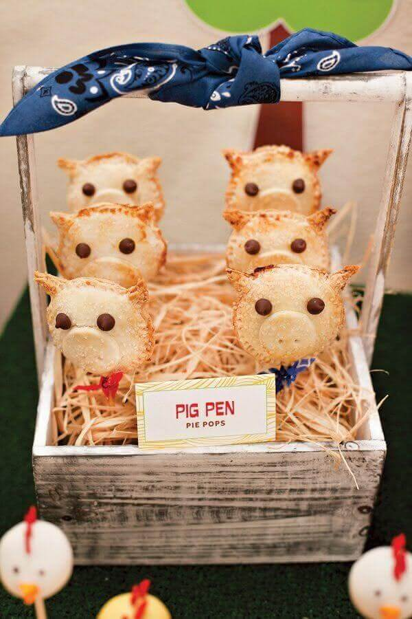 piggy shaped pasties for kids party farm little photo Pinosy